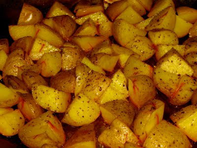 Saffron-Baked Potatoes