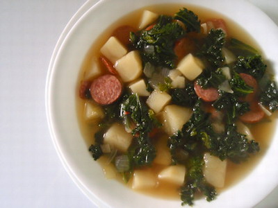 White Bean Soup With Kale And Turkey Italian Sausage ...