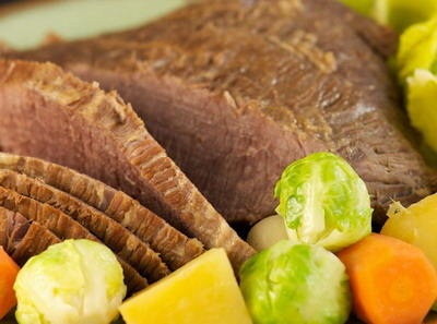 Stout Slow Cooker Corned Beef with Vegetables